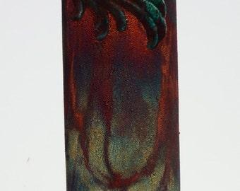 Raku Deco style vase