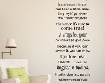 Disney Quote Decal | Etsy Part 97