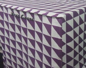 Heavy Duty Personalized Cotton Dog Crate Cover (8oz Cotton Canvas) - Machine Washable