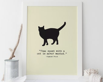 Cat Poster Cat Wall Art High-Quality Giclee Print Cat Quote Art Print Cat Quote Poster Kitten Poster Ikea Ribba Frame-Ready Cat Lover Gift