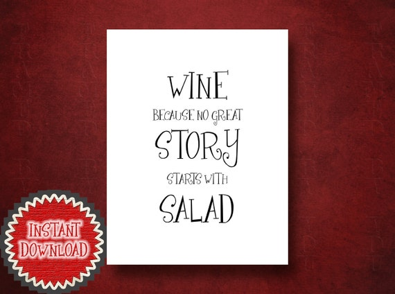 Kitchen artwork dining room decor wine tasting wall art print for Wine and dine wall art