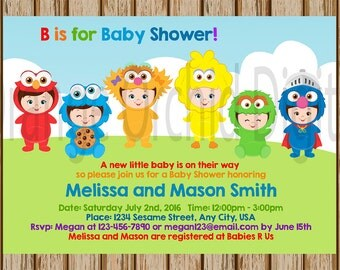 Elmo baby shower etsy - Sesame street baby shower ...
