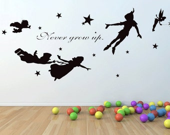 Peter Pan Wall Decal | Etsy Part 6