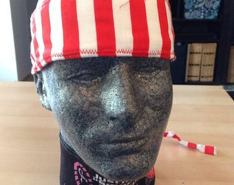 red and white stripe headwrap