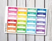 Class College Student High School Planner Stickers Designed for Erin Condren Life Planner Vertical