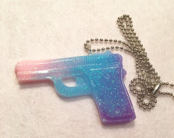 Kawaii Pastel Gun Necklace