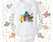 Sesame Street onesie, Sesame Street bodysuit - baby onesie - clothing baby onesie - gift baby onesie