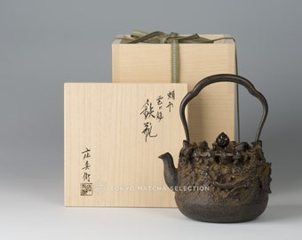 Takaoka Tetsubin : [Premium grade] Dragon and Clouds - Japanese Premium Iron Kettle Teapot