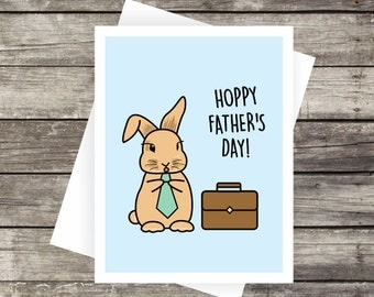 Hoppy Father's Day Greeting Card | Blank Card, Father's Day, Dad's Day, Gift for fathers, Gift for dad, Father's Day Gift, Gift for him