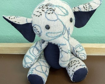 "Stuffed plush toy Elephant animal, named ""Krepysh"""