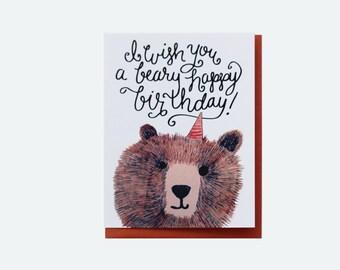 BEARY BIRTHDAY - Greeting Card