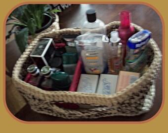 Beige and brown basket