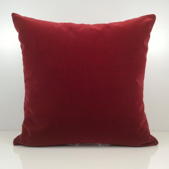 Throw Pillows For Burgundy Couch : Bright Burgundy Pillow Throw Pillow Cover Decorative Pillow