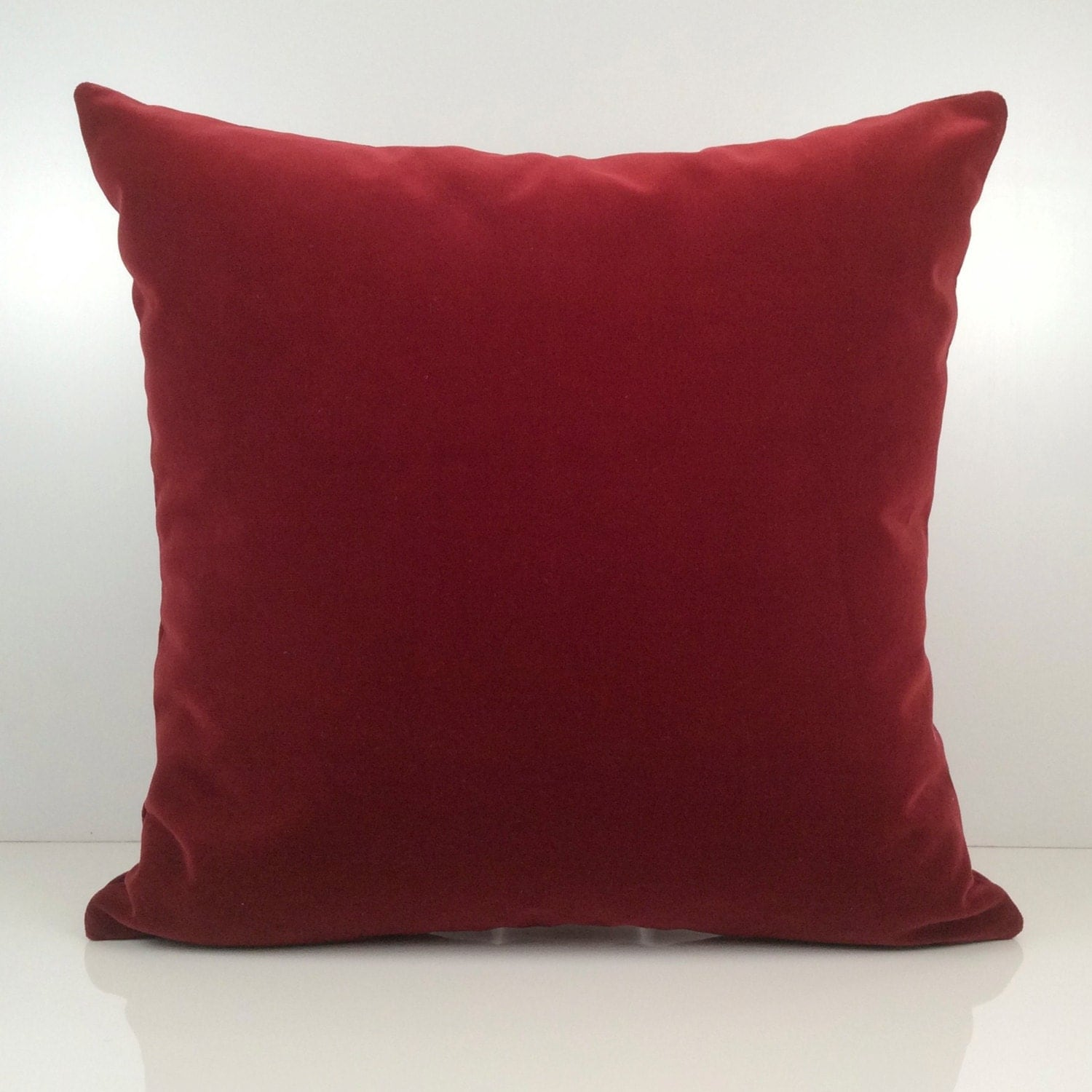 Throw Pillows Maroon : Bright Burgundy Pillow Throw Pillow Cover Decorative Pillow