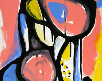 Tallulah - Original art - Wall art - Framed art - Abstract painting