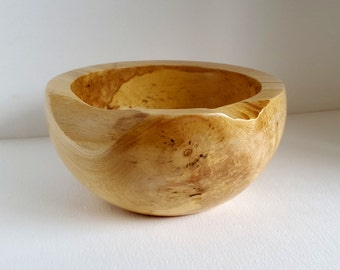Wood Bowl Sycamore chunky rim hand turned InTurn UK Woodturner home decor