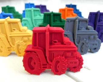 10 Tractor Crayon Party Favours | Farm Party | Novelty Crayons | Party Favours | Party Bag Filler | Tractor gift | Toddler party | Farmyard