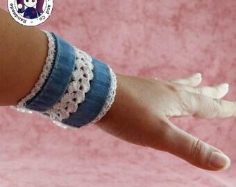 Blue Jeans cuff bracelet