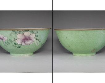 Antique Chinese famille rose bowl - QIANLONG official porcelain mark #2342