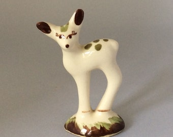 Vintage Ceramic Deer Figurine, White Deer Doe Figurine