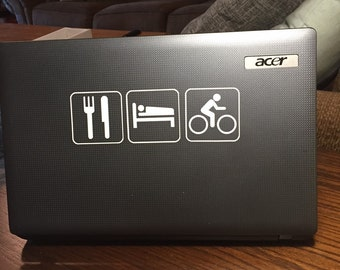 Cycling sticker Eat Sleep CycleDecal auto, laptop, water bottle, locker