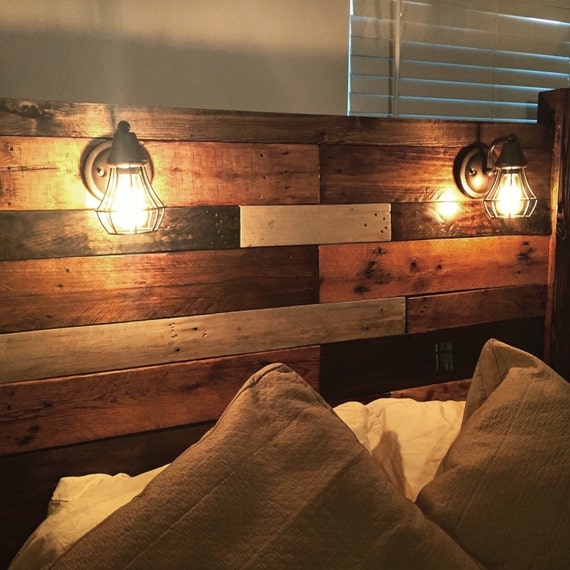 Pallet headboard for How to make a headboard out of pallets