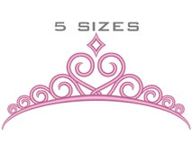 PRINCESS TIARA Embroidery Design Tiara CROWN Embroidery Design Princess Crown Embroidery Design Crown Machine Embroidery Design D.No:053