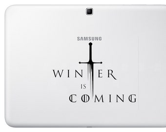 car macbook ipad TV vinyl decal sticker game of throne winter is coming T26