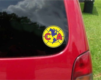 2 Pieces America Aguilas Futbol Mexico  Decals Stickers Full Color/Weather Proof. U.S.A Free Shipping