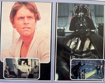 Star Wars Luke Skywalker & Darth Vader Matted Print