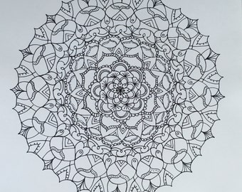 Black and White Original Mandala