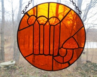 Zodiac Scorpio Stained Glass Suncatcher