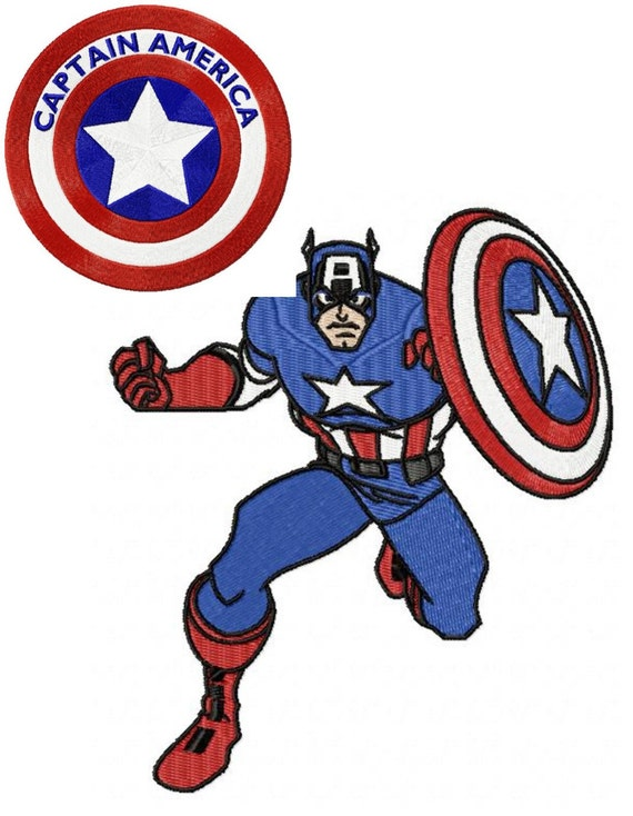 Captain America 2 Machine Embroidery Design For By