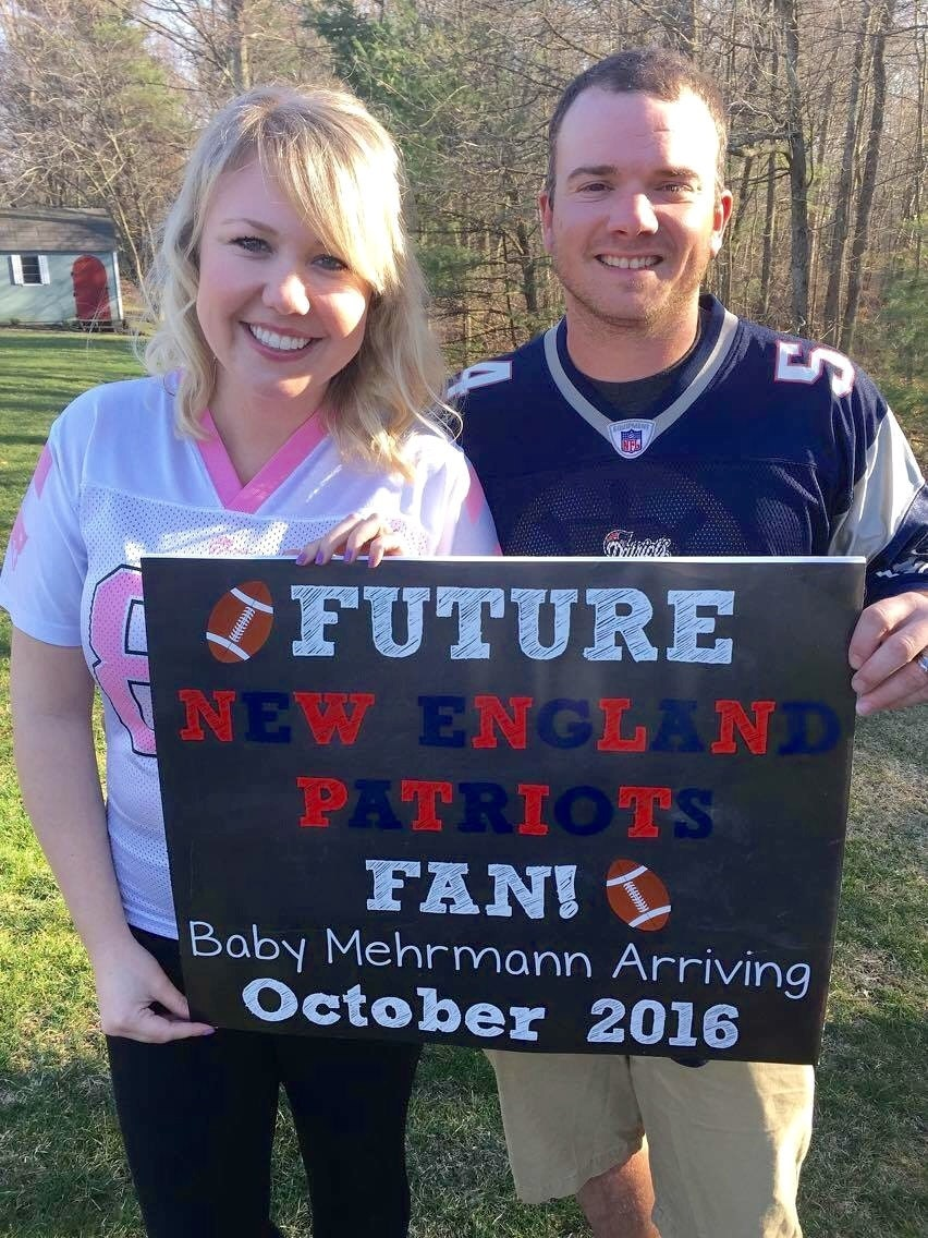Football Pregnancy Announcement Chalkboard Pregnancy – Football Birth Announcements