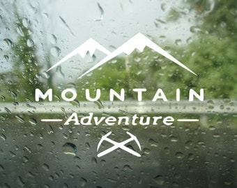 Adventure decal - Laptop Decal - Laptop Sticker - Macbook Decal - Car Decal - Bumper Sticker - Adventure Decal - Mountains Decal