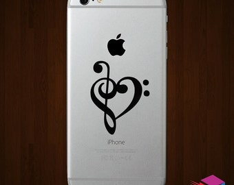 Heart Music Note iPhone Vinyl Decal