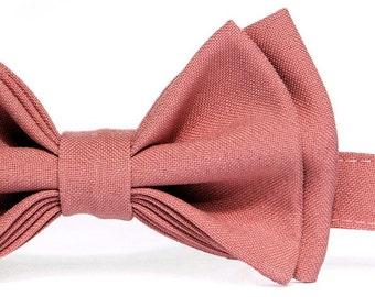 Dusty Rose Bow Tie -- Ring Bearer Bow Tie