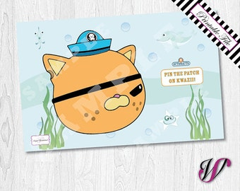"11x17""/A3 Octonauts Pin the Patch on Kwazii - Party Game - ONG-04"