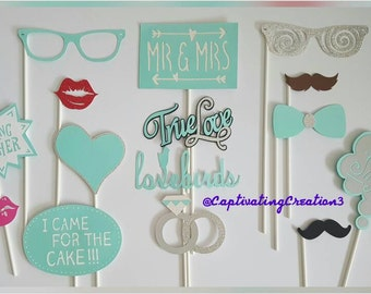 Wedding, Engagement, Bridal Party Photo Booth Props