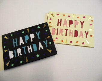 A6 Hand-Cut Happy Birthday Card