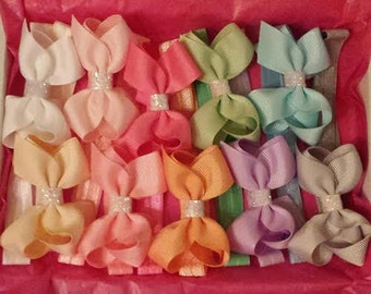 10 x 3 inch grosgrain ribbon hair bows set perfect for a baby shower or baby gift