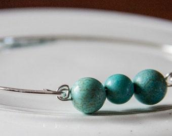Turquoise Worlds, Genuine Turquoise Jewelry, Turquoise Silver Bracelet, Turquoise Silver Jewelry, Turquoise Bangle, Southwest Style