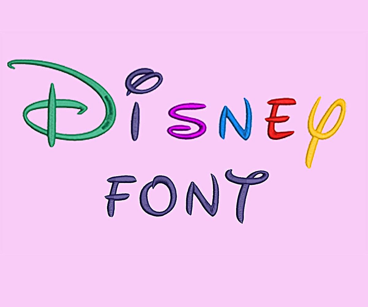 disney embroidery font design alphabet machine 26 uppercase