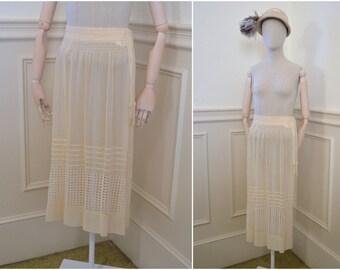 1920s Cream Sheer Skirt