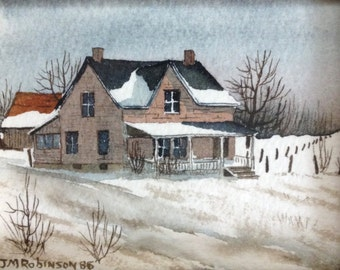 Lovely Original Watercolour Painting by J.M. Robinson