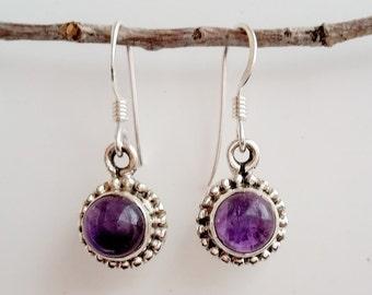 Amethyst Earrings - February Birthstone Earrings - Sterling Silver Amethyst Earrings - Purple Gemstone Earrings - Amethyst Jewelry