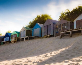 Abersoch Beach Huts / Wales / Holidays / Summer / Sand / British / WallArt