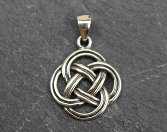 Celtic Knot Pendant / Charm -  Sterling Silver,  Irish