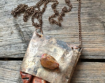 Jasper and Bell Necklace