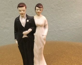 Late 1930s Cake Topper Vintage Wedding Keepsake